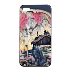 Modern Abstract Painting Apple Iphone 4/4s Seamless Case (black) by Love888