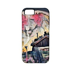 Modern Abstract Painting Apple Iphone 5 Classic Hardshell Case (pc+silicone) by 8fugoso