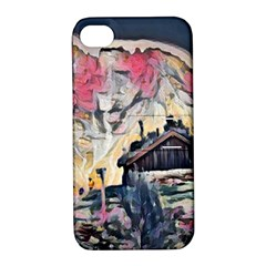Modern Abstract Painting Apple Iphone 4/4s Hardshell Case With Stand by 8fugoso