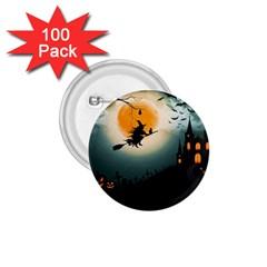 Halloween Landscape 1 75  Buttons (100 Pack)  by Valentinaart