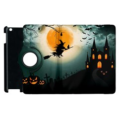 Halloween Landscape Apple Ipad 2 Flip 360 Case by Valentinaart