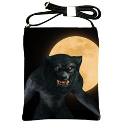Werewolf Shoulder Sling Bags by Valentinaart