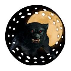 Werewolf Round Filigree Ornament (two Sides) by Valentinaart