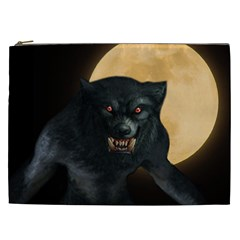 Werewolf Cosmetic Bag (xxl)  by Valentinaart