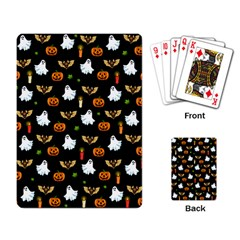 Halloween Pattern Playing Card by Valentinaart