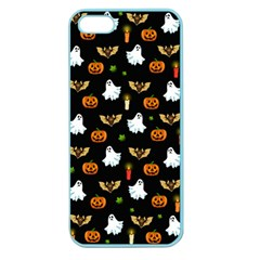 Halloween Pattern Apple Seamless Iphone 5 Case (color) by Valentinaart
