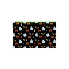 Halloween Pattern Cosmetic Bag (xs) by Valentinaart
