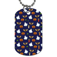 Halloween Pattern Dog Tag (one Side) by Valentinaart