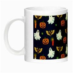 Halloween Pattern Night Luminous Mugs by Valentinaart