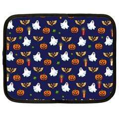 Halloween Pattern Netbook Case (xxl)  by Valentinaart