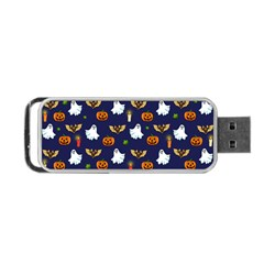 Halloween Pattern Portable Usb Flash (two Sides) by Valentinaart