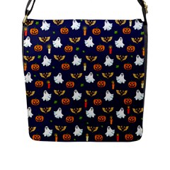 Halloween Pattern Flap Messenger Bag (l)  by Valentinaart