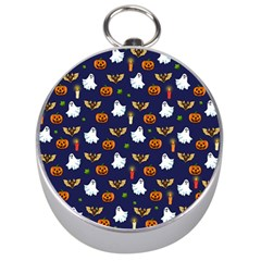 Halloween Pattern Silver Compasses by Valentinaart
