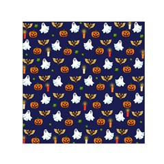 Halloween Pattern Small Satin Scarf (square) by Valentinaart