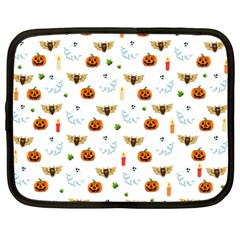 Halloween Pattern Netbook Case (large) by Valentinaart
