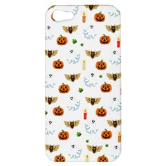 Halloween Pattern Apple Iphone 5 Hardshell Case by Valentinaart