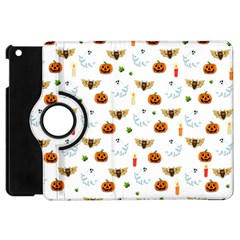 Halloween Pattern Apple Ipad Mini Flip 360 Case by Valentinaart