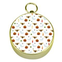Halloween Pattern Gold Compasses by Valentinaart