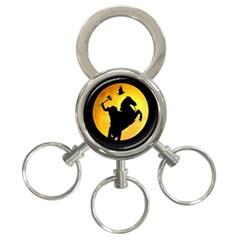 Headless Horseman 3 Ring Key Chains by Valentinaart