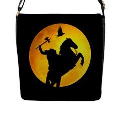 Headless Horseman Flap Messenger Bag (l)  by Valentinaart