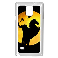 Headless Horseman Samsung Galaxy Note 4 Case (white) by Valentinaart