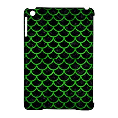 Scales1 Black Marble & Green Brushed Metal Apple Ipad Mini Hardshell Case (compatible With Smart Cover)