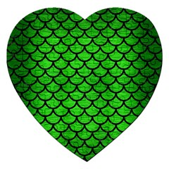 Scales1 Black Marble & Green Brushed Metal (r) Jigsaw Puzzle (heart) by trendistuff