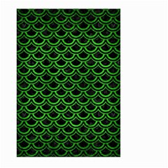 Scales2 Black Marble & Green Brushed Metal Large Garden Flag (two Sides) by trendistuff