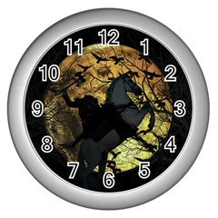 Headless Horseman Wall Clocks (silver)  by Valentinaart