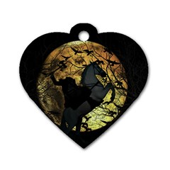 Headless Horseman Dog Tag Heart (two Sides) by Valentinaart