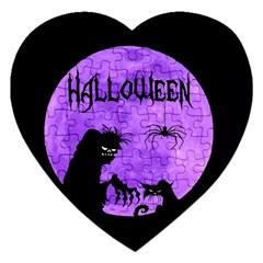 Halloween Jigsaw Puzzle (heart) by Valentinaart