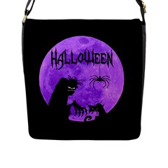 Halloween Flap Messenger Bag (l)  by Valentinaart