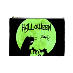 Halloween Cosmetic Bag (large)  by Valentinaart