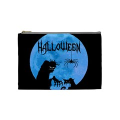 Halloween Cosmetic Bag (medium)  by Valentinaart