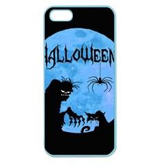 Halloween Apple Seamless Iphone 5 Case (color) by Valentinaart