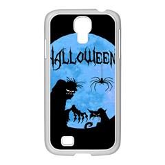 Halloween Samsung Galaxy S4 I9500/ I9505 Case (white) by Valentinaart