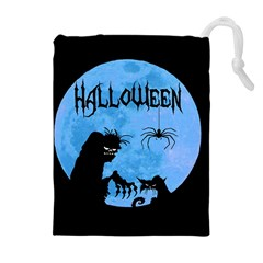 Halloween Drawstring Pouches (extra Large) by Valentinaart