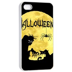 Halloween Apple Iphone 4/4s Seamless Case (white) by Valentinaart