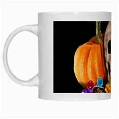 Halloween Candy Keeper White Mugs by Valentinaart