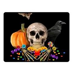 Halloween Candy Keeper Fleece Blanket (small) by Valentinaart