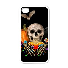 Halloween Candy Keeper Apple Iphone 4 Case (white) by Valentinaart