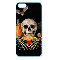 Halloween Candy Keeper Apple Seamless Iphone 5 Case (color) by Valentinaart