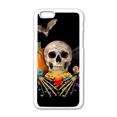 Halloween Candy Keeper Apple Iphone 6/6s White Enamel Case by Valentinaart