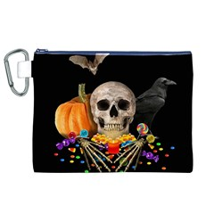 Halloween Candy Keeper Canvas Cosmetic Bag (xl) by Valentinaart