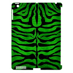 Skin2 Black Marble & Green Brushed Metal (r) Apple Ipad 3/4 Hardshell Case (compatible With Smart Cover) by trendistuff