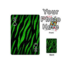 Skin3 Black Marble & Green Brushed Metal Playing Cards 54 (mini)  by trendistuff