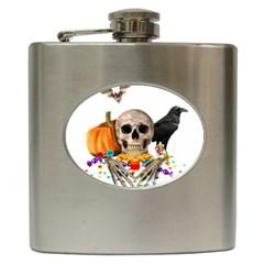 Halloween Candy Keeper Hip Flask (6 Oz) by Valentinaart