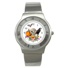 Halloween Candy Keeper Stainless Steel Watch by Valentinaart