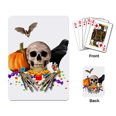Halloween Candy Keeper Playing Card by Valentinaart
