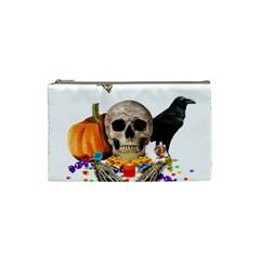 Halloween Candy Keeper Cosmetic Bag (small)  by Valentinaart